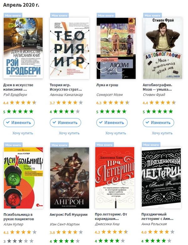 фото книг апреля